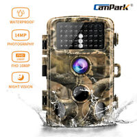 Campark Trail Game Camera 14MP FHD 1080P Waterproof IR Hunting Scouting Wildlife