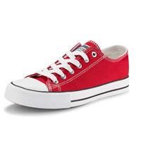 JENN ARDOR Women's Canvas Shoes Casual Sneakers Low Cut Lace Up Fashion Flats