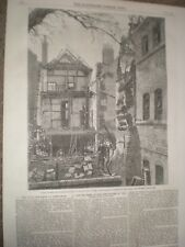 Fatal explosión Whittall Street Birmingham 1859 impresión ref au