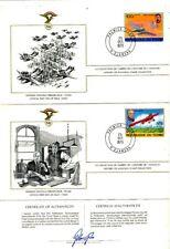 TIMBRE STAMP 3 FDC AVION HISTOIRE DE L' AVIATION FEDERATION AERONAUTIQUE TCHAD