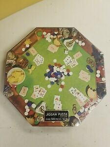 Springbok Poker Party Jigsaw Puzzle 1973 New SEALED! With some damage to box