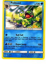 Pokemon Sun & Moon Guardians Rising - Politoed 25/145 Holo Card