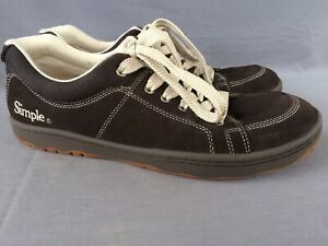 SIMPLE PAST Suede/Canvas Brown Sz 12 M Men OS Casual Sneakers Ubersquish Tech