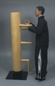 "1/6 Scale Kung Fu Wooden Dummy for 12"" Bruce Lee IP Man Action Figure Body Doll"