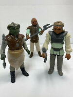 Vintage (Loose, 100% Comp.) 1983 Kenner Star Wars KLAATU, WEEQUAY, & NIKTO Lot