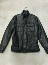 NWT Levis Black Leather Sherpa Lined Jacket Size Small
