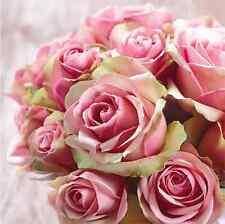 20 Paper Lunch Napkins ELEGANT ROSES - PARTY DECOUPAGE SERVIETTES TaT