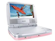 """PHILIPS PET721C Portable 7"""" DVD Player - Pink with Power Adapter & Earphones"""
