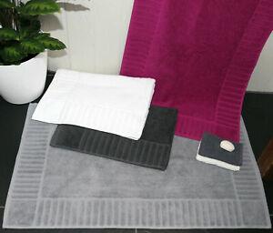 Badvorleger 50x80 Duschvorleger Badteppich Frottier 100% Baumwolle ÖKOTEX Typ513
