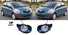 FOR TOYOTA YARIS 2006 - 2009 NEW FRONT BUMPER FOGLIGHT GRILLE AND LAMP PAIR SET