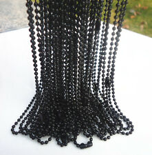 LOTS of 5PCS Hematite plated spherical metal necklace Finding 58cm,2mm B