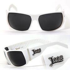 Locs hombre Cholo motero gafas de Sol funda - blanco Lc82