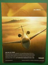 5/2005 PUB BOMBARDIER GLOBAL 5000 REGIONAL AIRCRAFT BUSINESS JET ORIGINAL AD