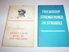 2 Vintage 1969-1970 U.S.S.R. Propaganda Literature Books