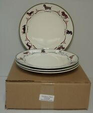 Danbury Mint DACHSHUND Dinner Plates FOUR DIFFERENT SCENE More Items Here