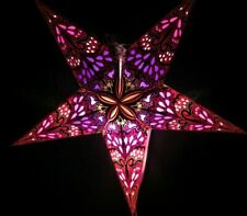 24' Pink Paper Star Hanging Lantern Lamp (Light Cord NOT Included) #15