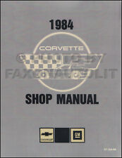 1984 Corvette Shop Manual 84 Chevy Chevrolet Repair Service Book