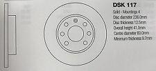 DSK117 VAUXHALL ASTRA/CORSA/VECTRA BRAKE DISC