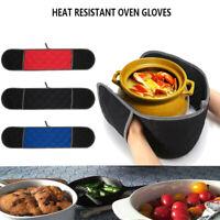 Double Oven Gloves Vintage Cotton Mitt Padded Heat Resistance Insulated Kitchen