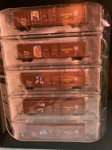 Micro Trains Line N Scale 993 21 210 Pennsylvania 60' Double Door Box Cars 5 Pk