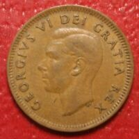 1948 Canada Cent Penny , Circulated , Canadian Coin , Free Shipping!