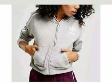 Adidas Originals California Cropped Trefoil Full Zip Ladies Hoodie Size: 14