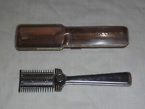 VINTAGE MADE USA HOME BARBER FOR FAMILY PLAYTEX HAIR CUTTER IN CASE
