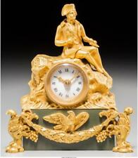 A French Second Empire Gilt Bronze Figural Napoleon Clock, Third Qu. Lot 65206