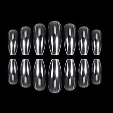Nail Full Coverage Super Thin Lightweight Breathable Coffin Form Clear 500 Count