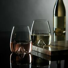 "*NEW* Waterford ""Elegance"" Stemless Wine Glass - Set of 2 Glasses *NWT*"