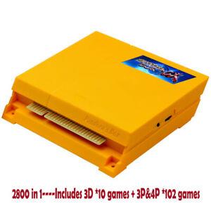 Pandora Box CX Jamma Arcade Board 2800 in 1 Gaming Board 3D Game MAM SNES CRT