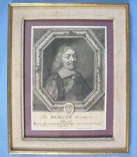 Beau Portrait Gravé du Comte de BRIENNE, H. A. de LOMENIE par Moncornet / XVIIè