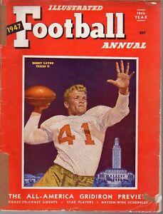 1947 Football Illustrated Annual magazine Bobby Layne, Texas Longhorns POOR