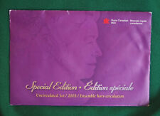 2003 Canada Prooflike PL special edition W/P mark  (brilliant uncirculated) set