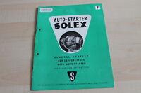 139285) Solex Vergaser Auto Starter Prospekt 12/1956