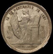 1891/88 Honduras One Peso Silver Coin - NGC AU 55 - KM# 52