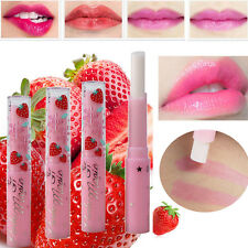 Cute Strawberry Lip Balm Magic Temperature Changing Color Moisturizer Balm HS