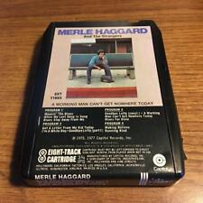 MERLE HAGGARD WORKING MAN NOWHERE RARE 8 TRACK TAPE TESTED LATE NITE BARGAIN!
