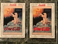 (2) 1994 Chase Card COCA-COLA Series PB-1 & PB 2 POLAR BEAR 1920 Mint