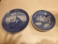 2 Royal Copenhagen, B&G Cat Plates (made in Denmark)