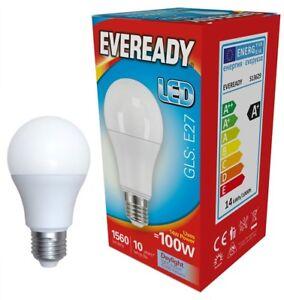 Eveready 14w (=100w) LED Opal GLS Bulb €€œ Edison Screw (ES) Daylight White