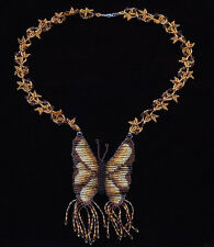 Native American Handmade Beaded Butterfly Design Necklace