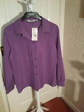 Casual Button Cuff Collared Polyester Women's Tops & Shirts