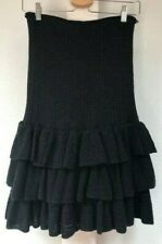 New with tags Ralph Lauren Rugby 100% wool black lace layered skirt size S $168