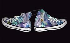 Converse Digital ROSES Blue Purple Green Tones Floral Hightop Shoes NWT Wms 7