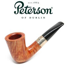 NEW Peterson Natural Outdoor Series Calabash -  Short Stem Silver Band Pipe