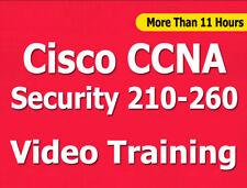 Cisco CCNA Security 210-260 Exam Video Training Course Tutorials CBT - +11 Hours