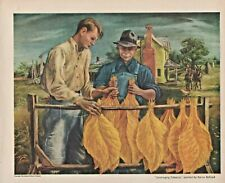1947 Lucky Strike Cigarettes Vintage Print Ad Fine Tobacco Is What Counts