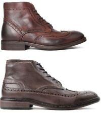 Stivali, anfibi e scarponcini da uomo H by Hudson marrone 100% pelle