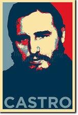 Fidel Castro PHOTO PRINT POSTER CADEAU (OBAMA HOPE INSPIRÉ)